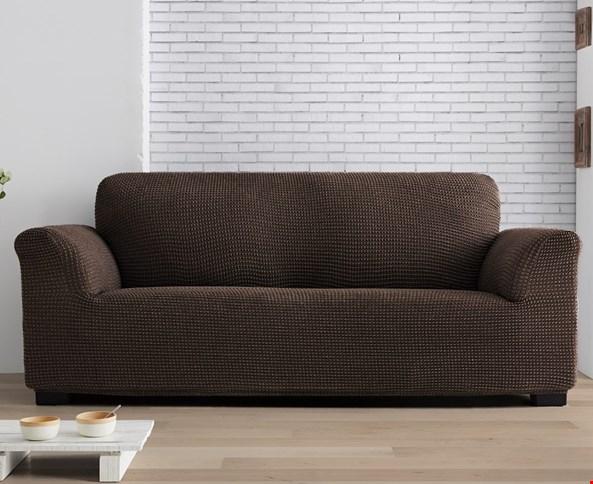 Pokrowiec na dwuosobową sofę/kanapę brązowa