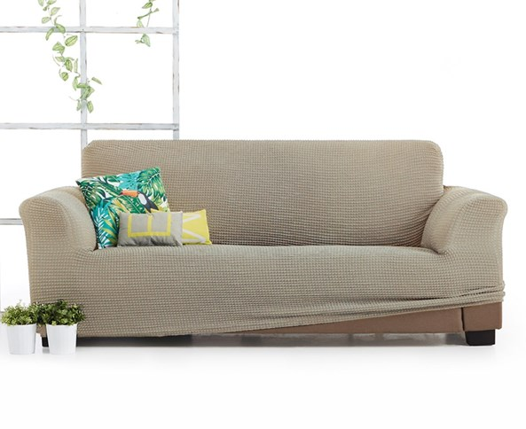 Pokrowiec na trzyosobową sofę Milos beżowy