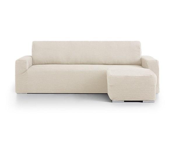 Pokrowiec na sofę narożną prawą - kremowy