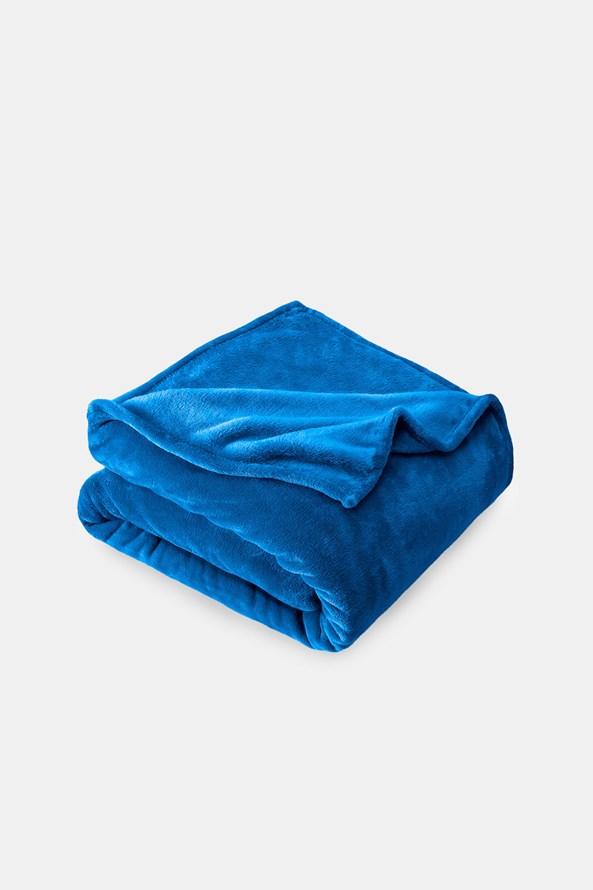 Mikropluszowy koc niebieski