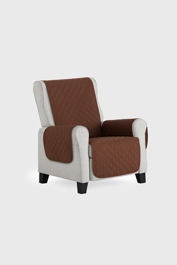 Pokrowiec na fotel Moorea brązowy