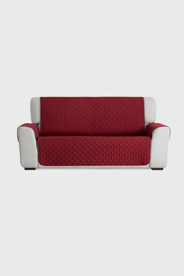 Pokrowiec na sofę dwuosobową czerwony