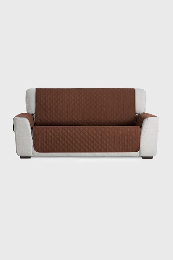 Pokrowiec na sofę trzyosobową Moorea brązowy