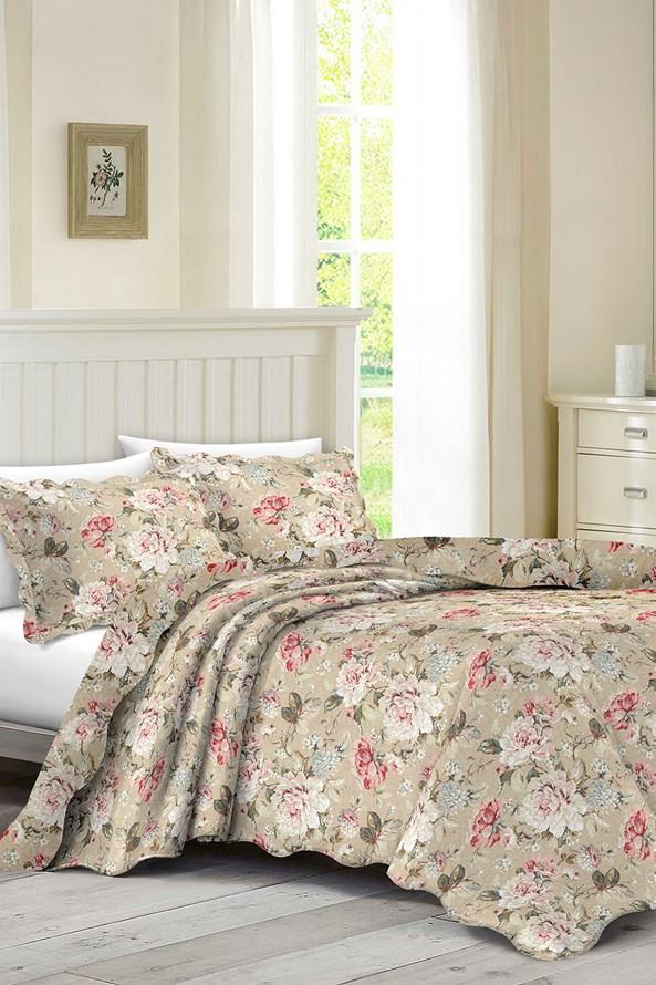 KOMPLET narzuty na pojedyncze łóżko i poduszki