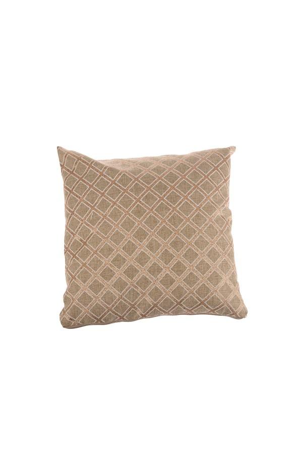 Dekoracyjna wzorzysta brązowa poszewka na poduszkę