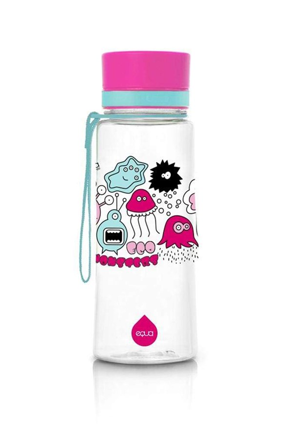 Plastikowa butelka EQUA Pink Monsters 600 ml