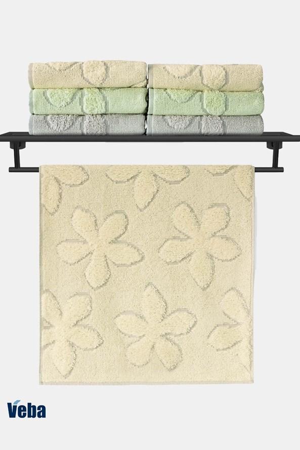 Luksusowy ręcznik VEBA Primavera żółty
