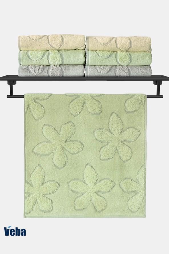 Luksusowy ręcznik VEBA Primavera zielony