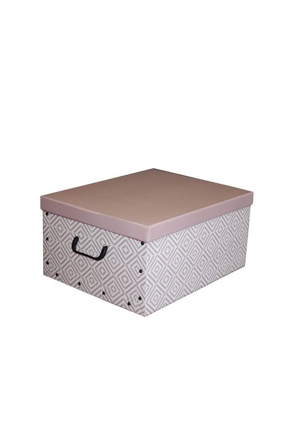 Składane pudło do przechowywania Nordic różowe