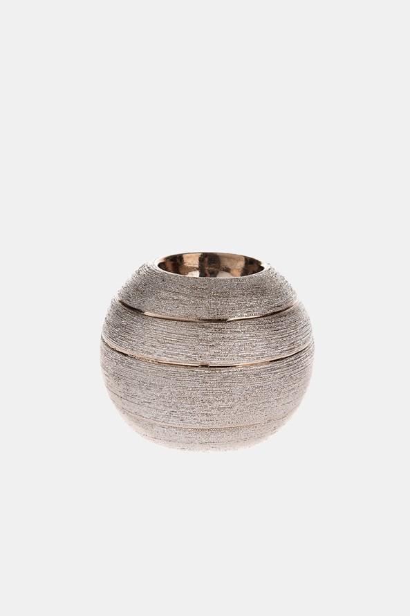 Ceramiczny świecznik kulisty