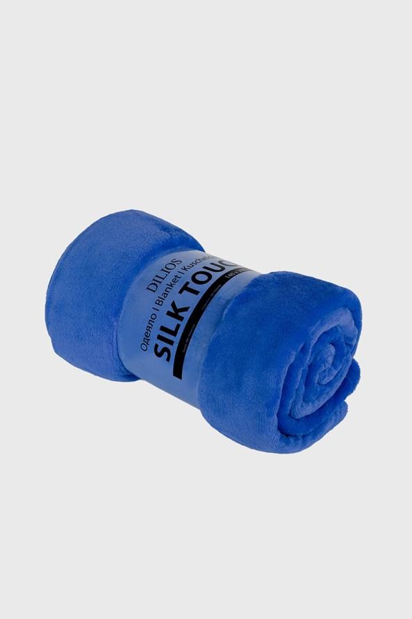 Koc Silk niebieski