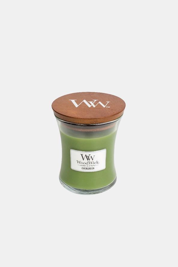 Świeczka WoodWick Evergreen średnia