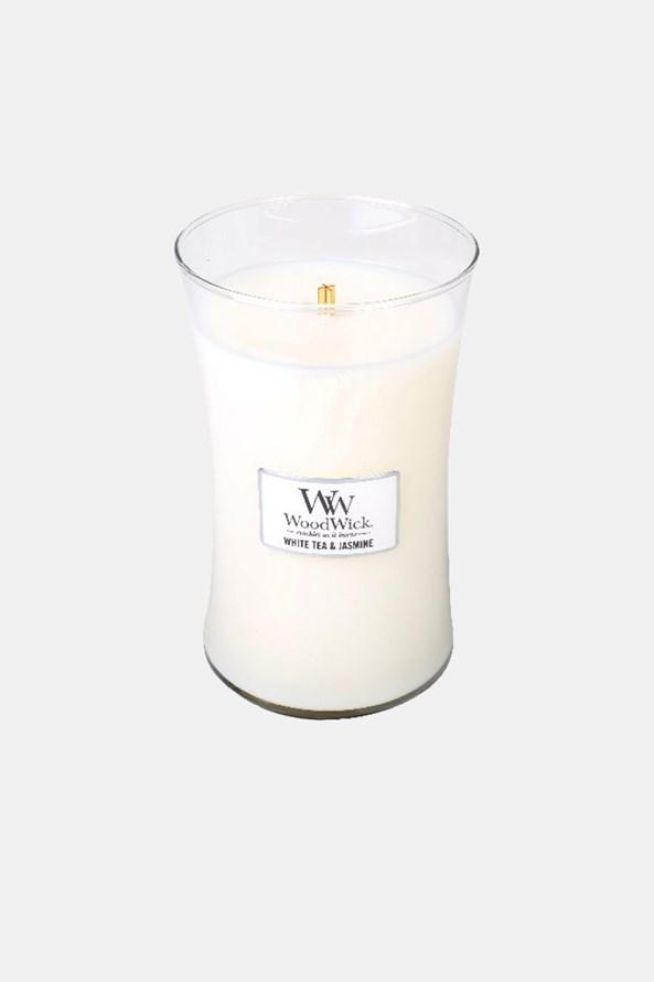 Świeczka WoodWick White Tea and Jasmine duża