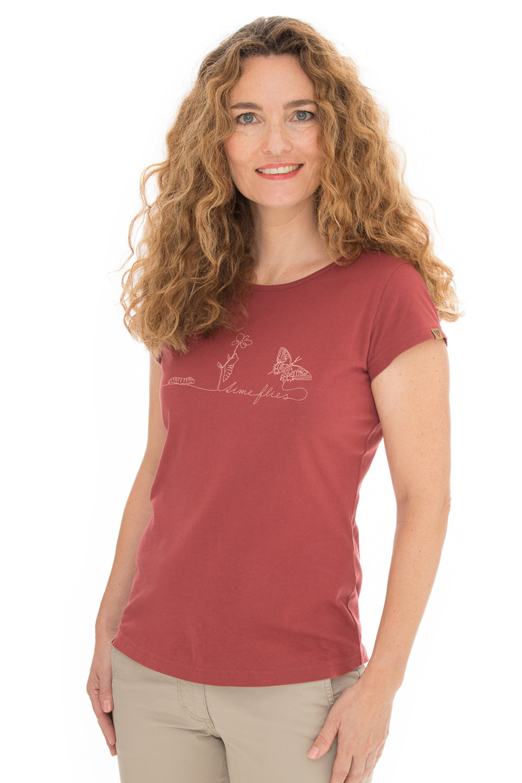 Damski czerwony T-shirt Bushman Natalie