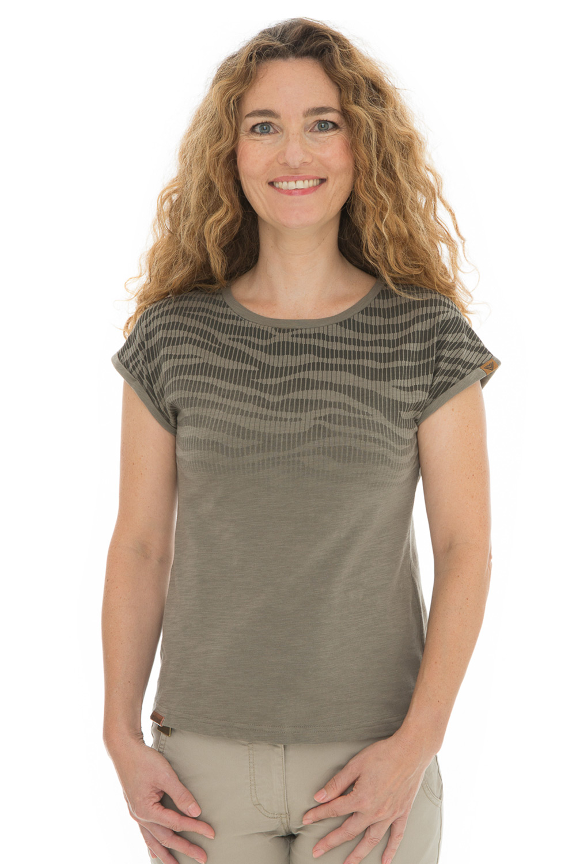 Damski T-shirt khaki Bushman Kira