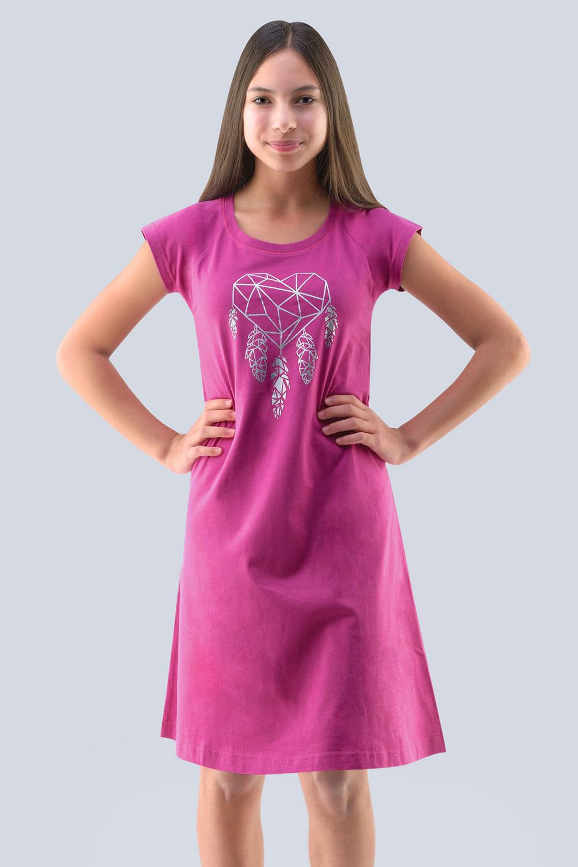 Dziewczęca koszula nocna Hearts różowa