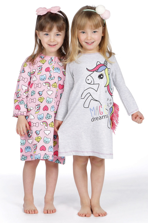 Dziewczęca koszula nocna Lina Pink Pony