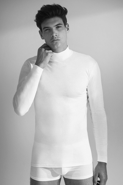 Męski T-shirt z długimi rękawami 1015