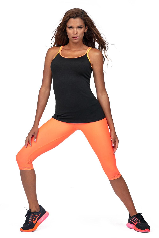 Damskie legginsy sportowe 3/4 Neon