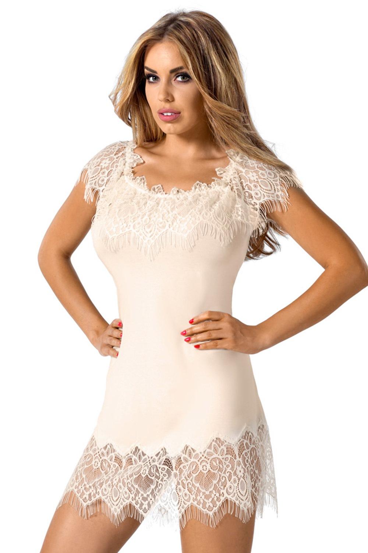 Elegancka damska koszula nocna Sevilla Ecru