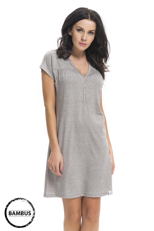 Bambusowa koszula nocna dla ciężarnych i karmiących Joy Grey