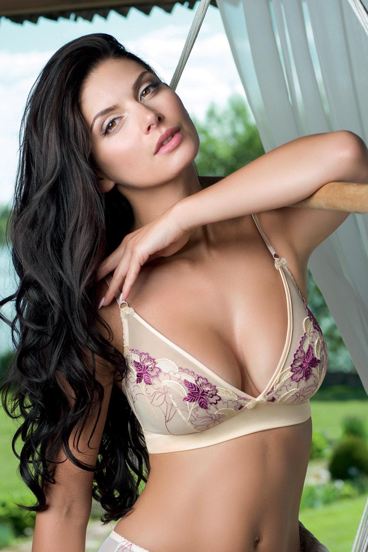 Biustonosz nieusztywniany Bouquet Purple